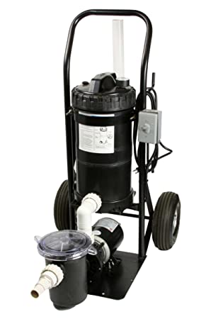 Amazon.com : Portable Pool Filter System Mini Vac 1 HP System Generates 50  GPM Mounted On A Small Cart : Garden U0026 Outdoor