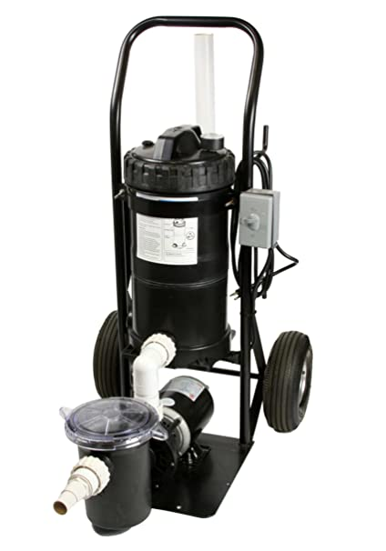 Merveilleux Portable Pool Filter System Mini Vac 1 HP System Generates 50 GPM Mounted  On A Small