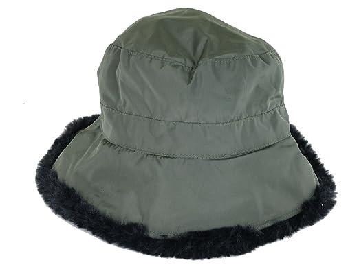 b2c404e60b3 Scala Pronto New Nylon Faux Fur Cloche Flexable Shape-Able Brim One Size  (LW682) (Olive) at Amazon Women s Clothing store