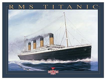 Amazon.com: Titanic Gold Letter Giclee Travel Art Poster by Artist ...