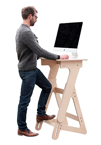 Amazoncom JASWIG Adjustable Height Stand Up Desk Wood Standing