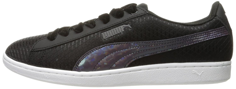PUMA Women's Vikky Swan Fashion Sneaker B01J5R67DC 8 M US Puma Black-puma Black