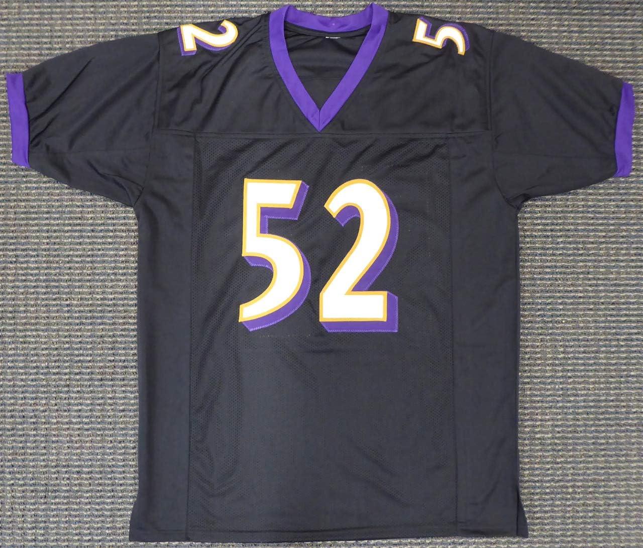 Amazon.com: Baltimore Ravens Ray Lewis Autographed Black Jersey ...