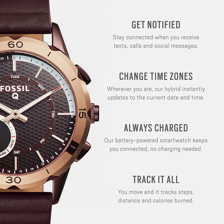 Fossil Hybrid Smartwatch Q Modern Pursuit Wine Watches Watch