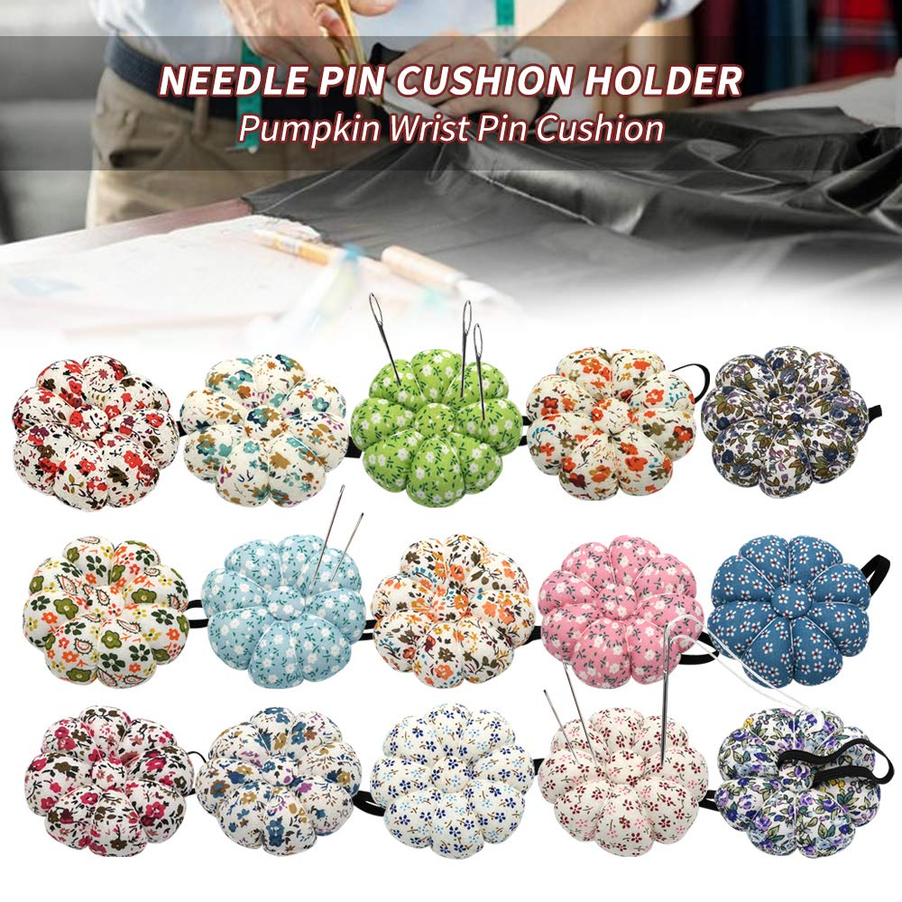 Godagoda Pin Cushions Wearable Needle Pincushions Polka Orchid Bloom For Sewing Quilting Pins Holder