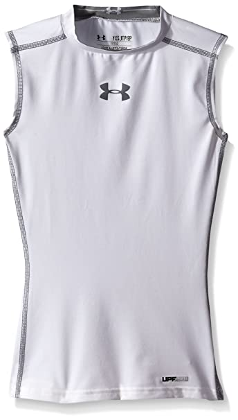 d7747d4d67c94 Under Armour HeatGear Sonic Compression Sleeveless Top - X Large - White