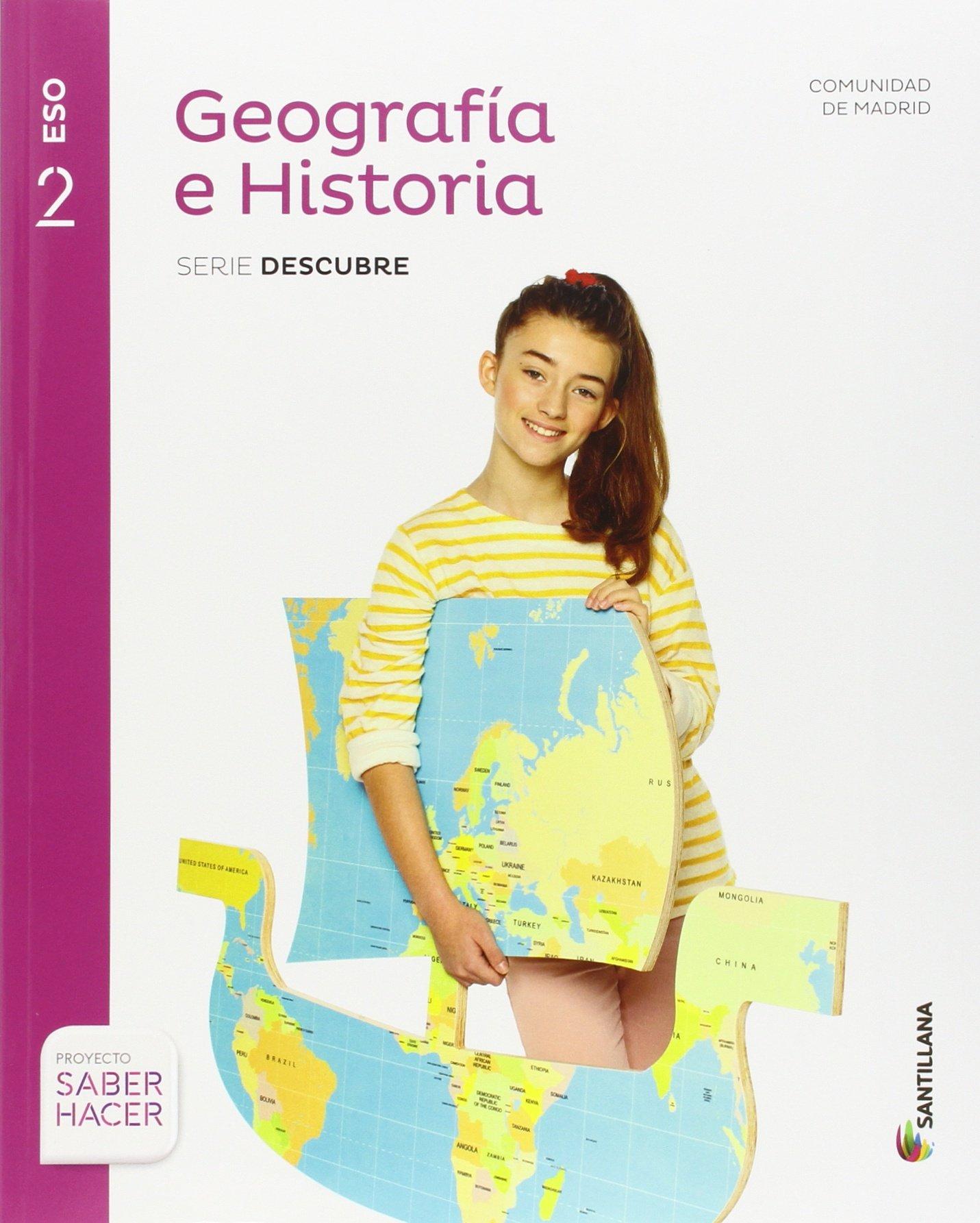 Geografía e Historia 2 eso Madrid + Cuaderno Santillana Educacion Comunidad de Madrid: Amazon.es: Vv.Aa.: Libros