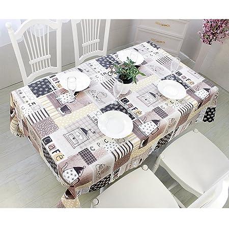 Qualsen Tablecloth Wipe Clean Heavy Weight Pvc Vinyl Table Mat Oil