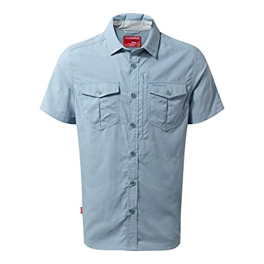 Craghoppers NosiLife Mens Adventure Short Sleeve Travel Shirt (S) (Fogle  Blue) 32ffad88b