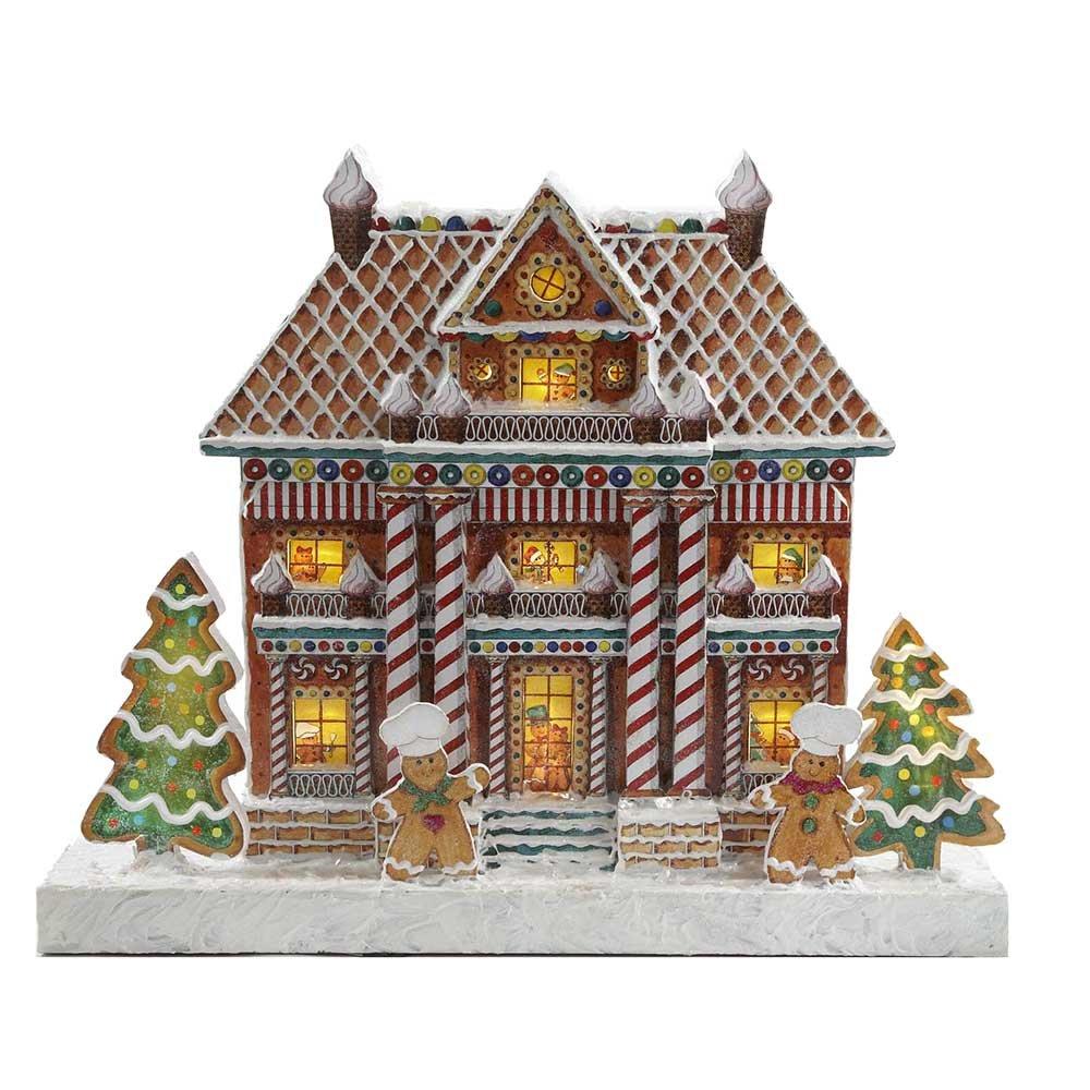 Kurt Adler Kringle Lane LED Gingerbread Mansion、17.7-inch B00EEQ78D8