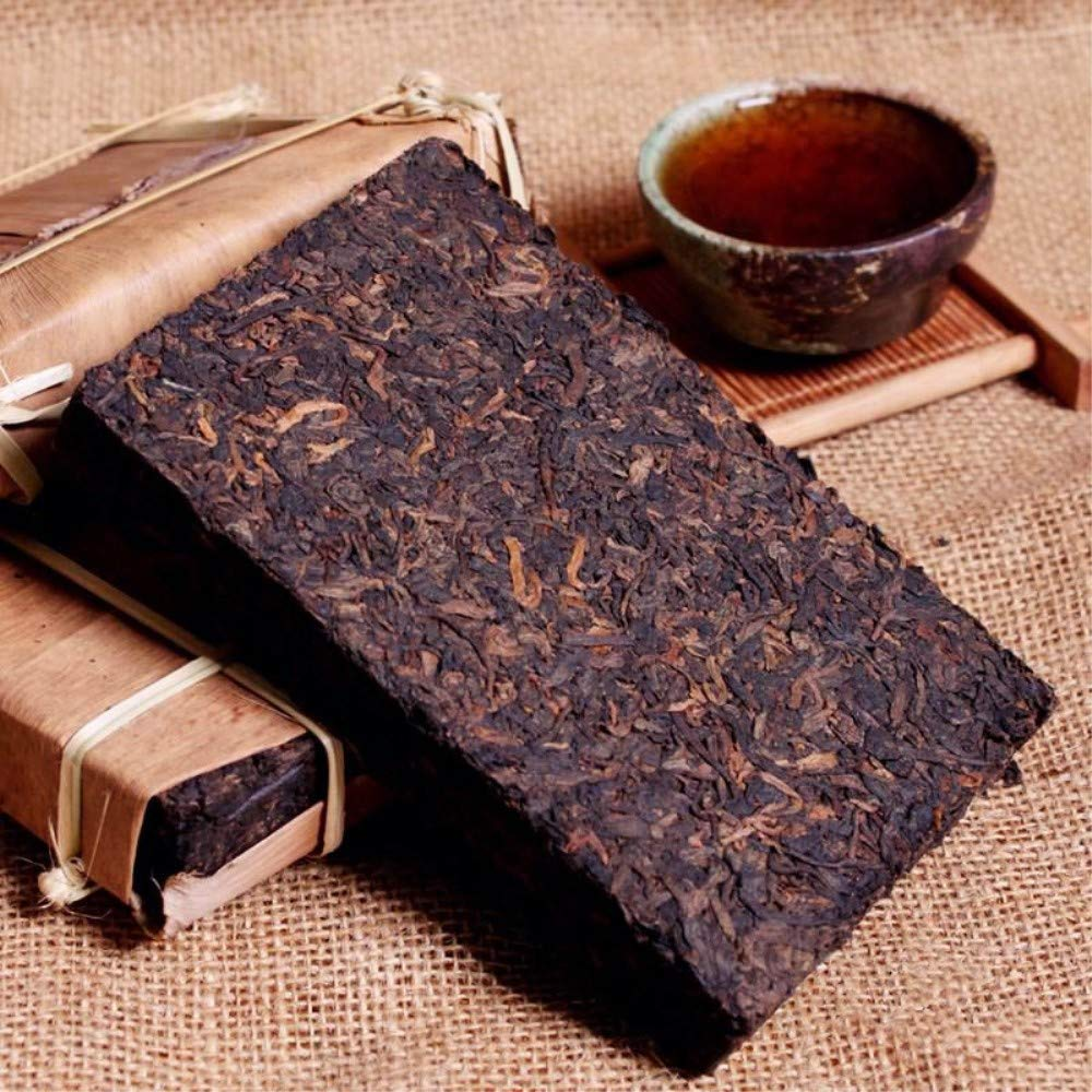 Yan Hou Tang 10 Years Aged Organic Chinese Yunnan Puerh Tea Black Brick Cha Ripe Fermented 250g - Compressed Tea with Non-GMO Detox Weight Loss US FDA SGS Verified