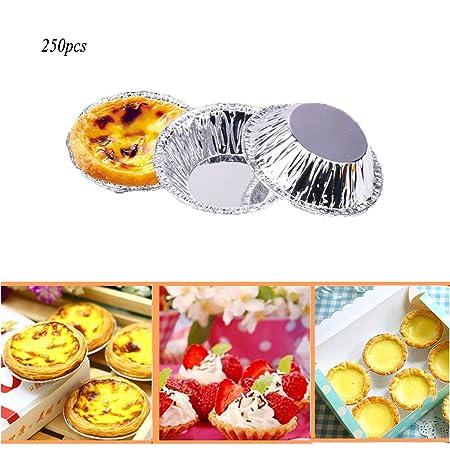 afut 250pcs Desechables papel aluminio molde de horno para huevos ...