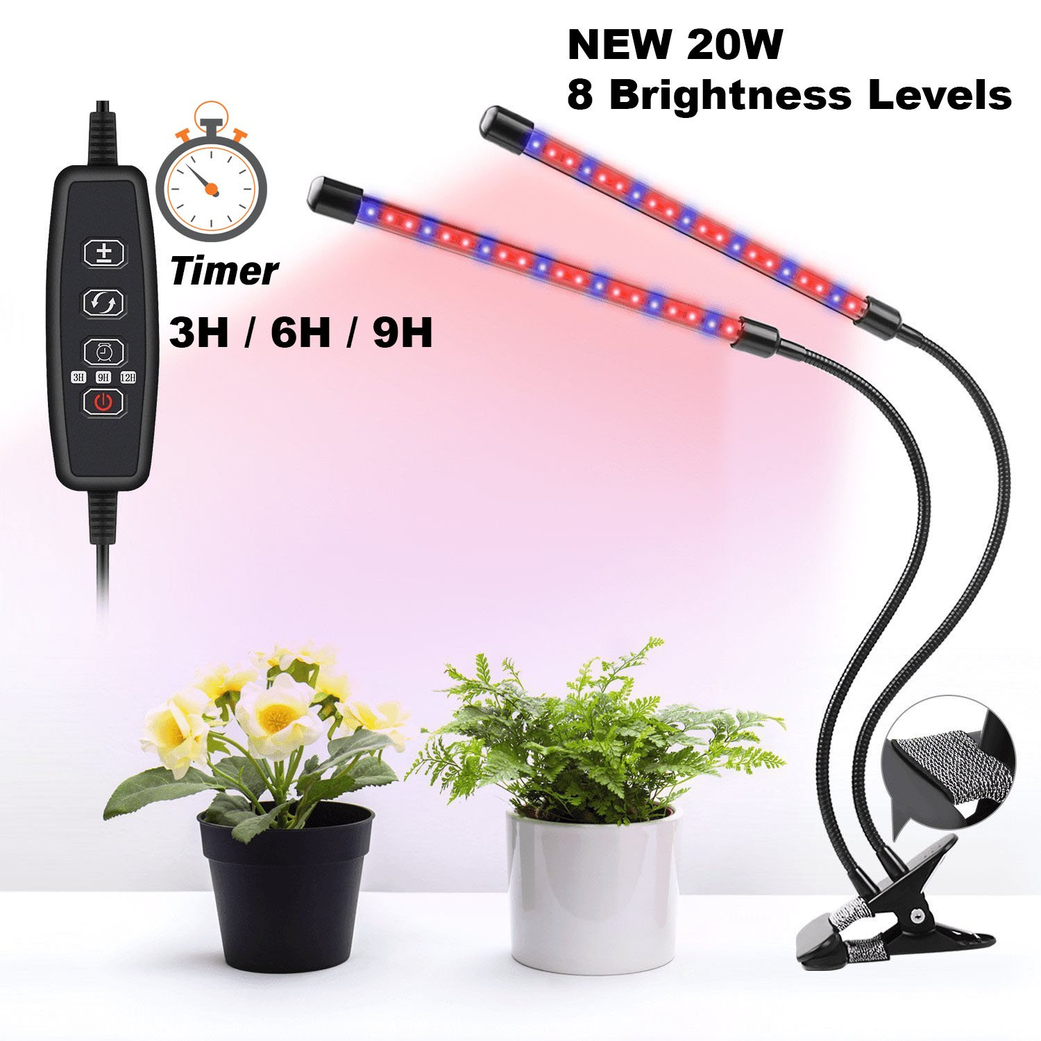LED Grow Light Kit RGB fixture with clamp (grow light blue, red and purple) by LED Grow Light