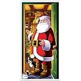 """Beistle 20012 Santa Door Cover, 30"""" x 5'"""