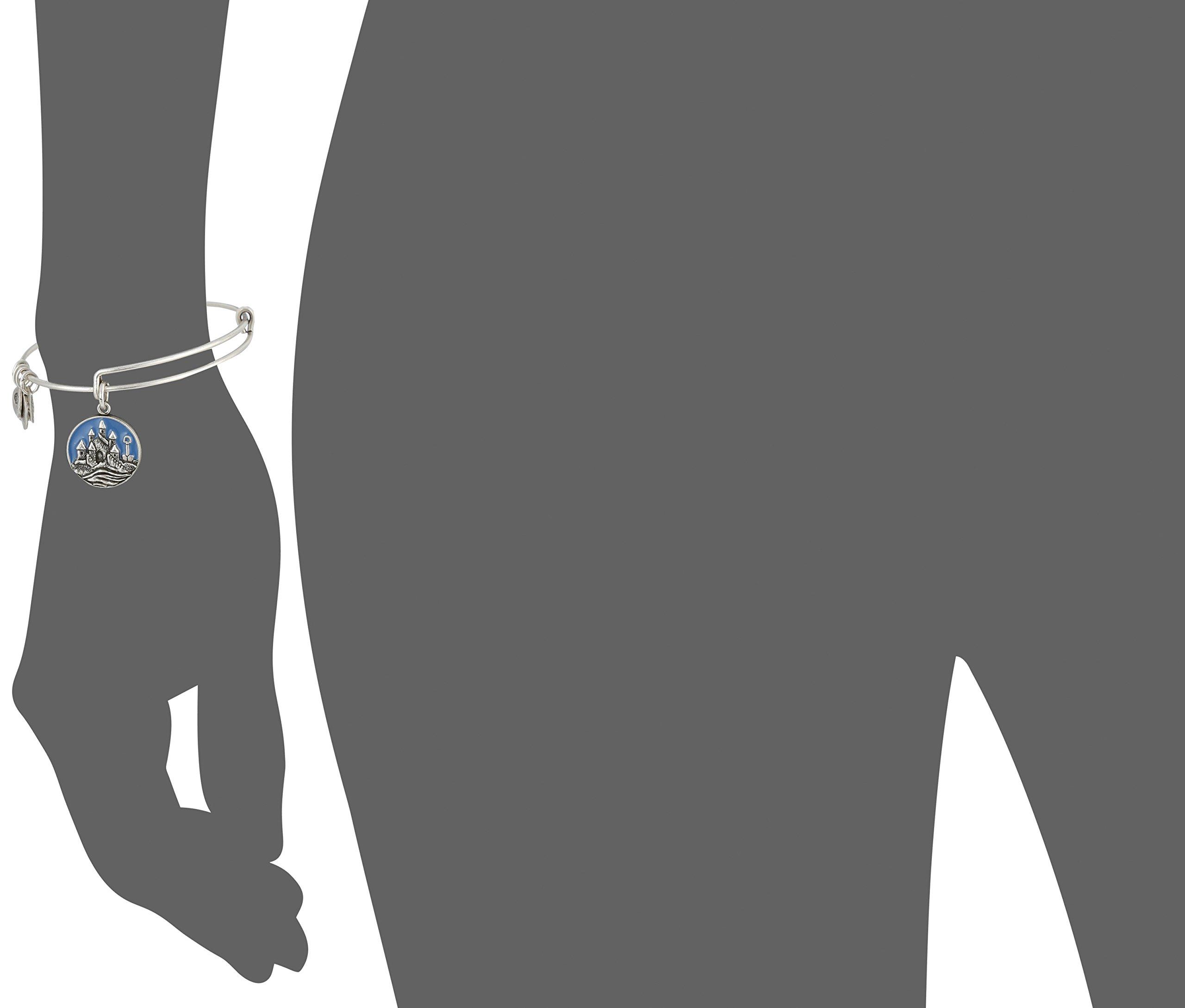 Alex and Ani Charity By Design, Sand Castle EWB Rafaelian Silver Bangle Bracelet by Alex and Ani (Image #3)