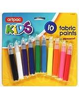 Global Lot de 10Feutres à peinture de Tissu Créer des motifs permanents sur des t-shirts ou sur n'importe quel Tissu