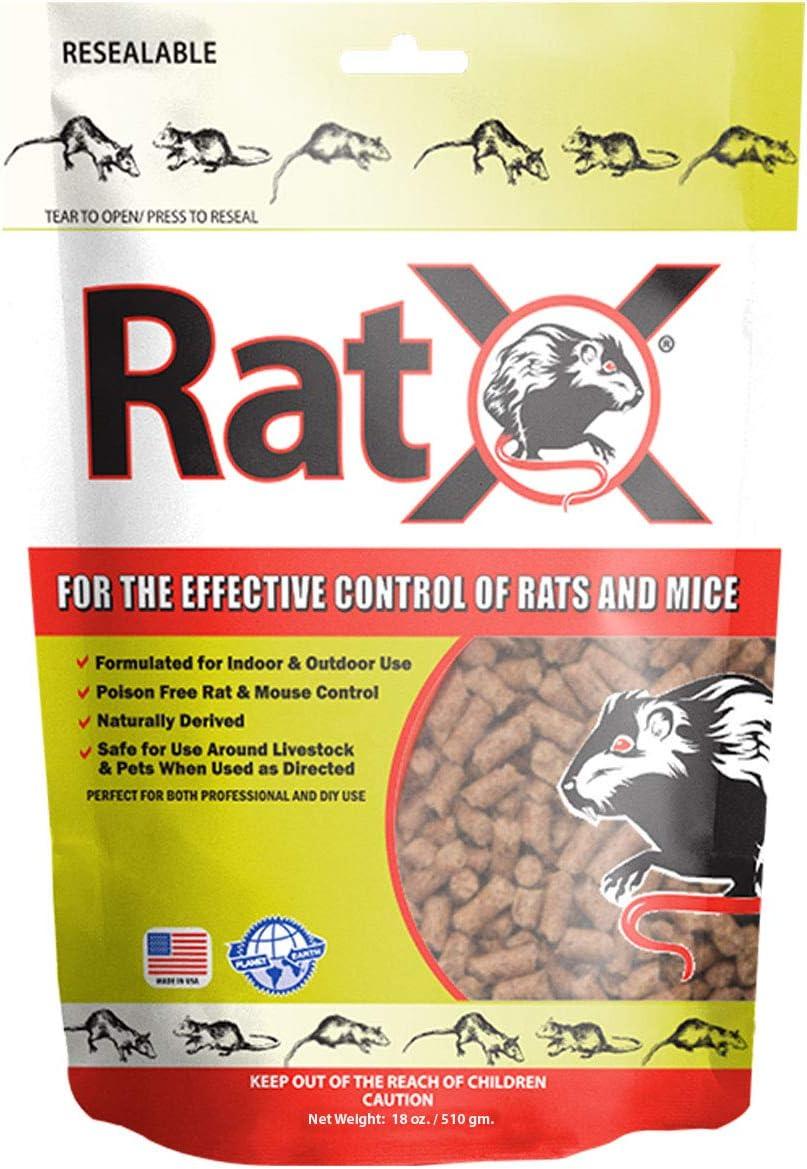 RatX 18oz Bag All-Natural Non-Toxic Rat and Mouse Killer Pellets
