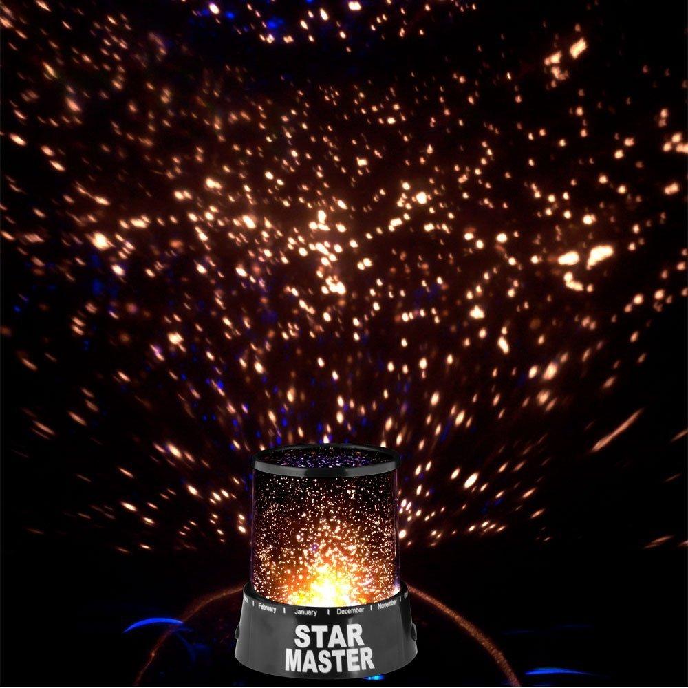 Einheitsgr/ö/ße Mttheaw Starlight LED-Nachtlicht Galaxie Sternenhimmel Projektor Weihnachtslicht Schwarz