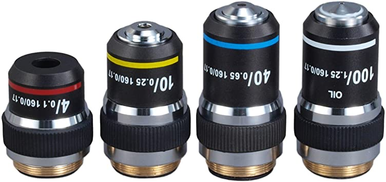 OMAX 40X Achromatic Objective Lens for Compound Microscopes Spring