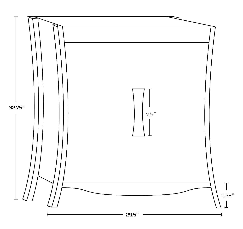 American Imaginations AI-888-18287 Birch Wood-Veneer Vanity Set In White