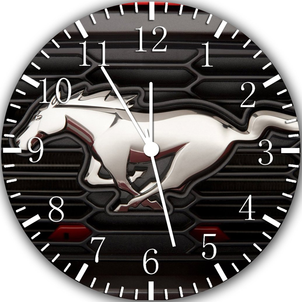 Mustang Frameless Borderless Wall Clock Y61 Nice For Gift or Room Wall Decor