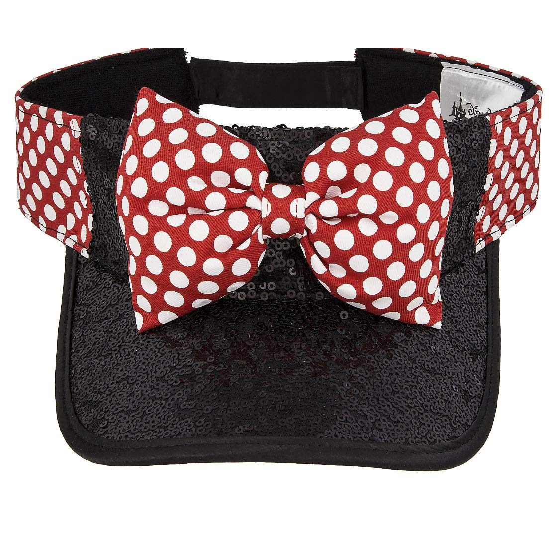 Disney Parks Minnie Mouse Bow Sequined Visor