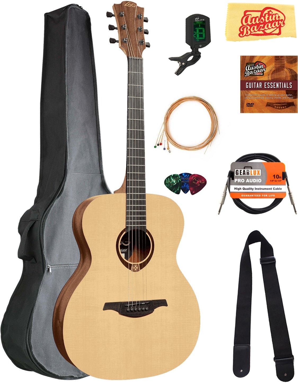 Amazon Lag T70a Tramontane Auditorium Acoustic Guitar Bundle