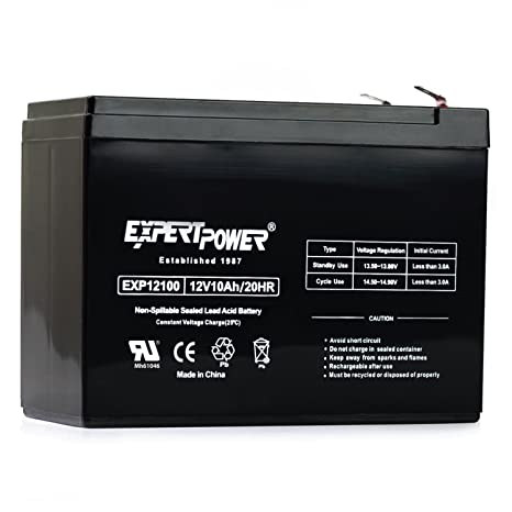 12v 10Ah SLA Rechargeable Battery - F2 Terminals