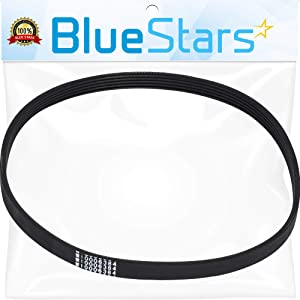 Ultra Durable W10006384 Washer Drive Belt Replacement Part by Blue Stars- Exact Fit for Whirlpool Maytag Kenmore Washer - Replaces WPW10006384VP PS11747978