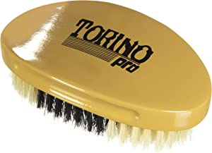 Torino Pro Hybrid Medium Soft Curve Brush By Brush King - #1760 - Soft top ,Medium in the middle, soft in the bottom - Great for polishing your waves and Connections - Curved brush for 360 Waves