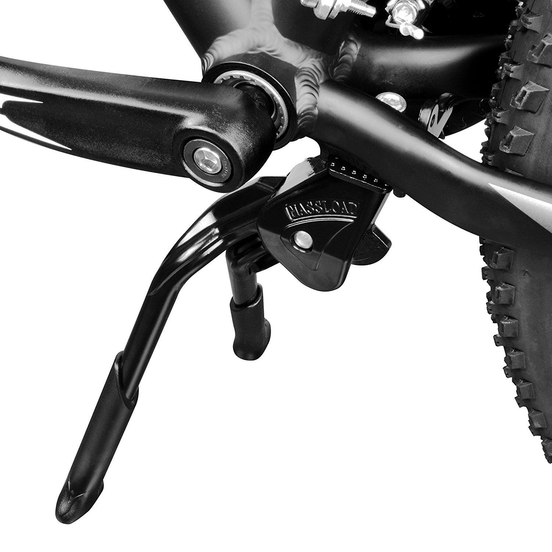 BV Bicicletas Negro Ajustable y Plegable Doble Pierna función atril de almacenamiento