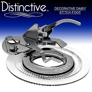 Distintivo decorativo Daisy Flores de punto de prensatelas para máquina de coser – se adapta a