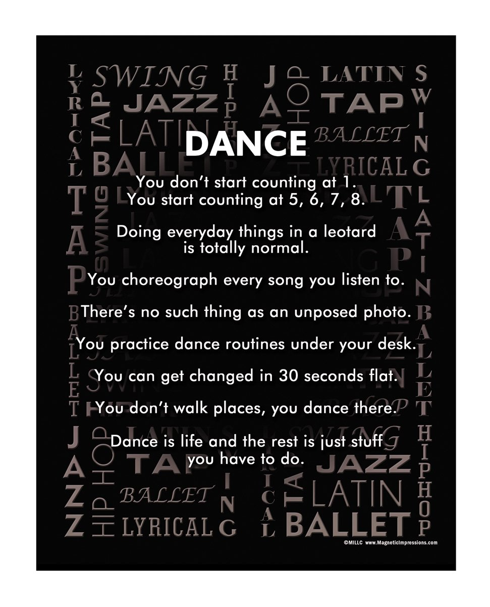 """Posters and Prints by Magnetic Impressions Dance Styles 13.75"""" x 17"""" Vinyl Wall Decal"""