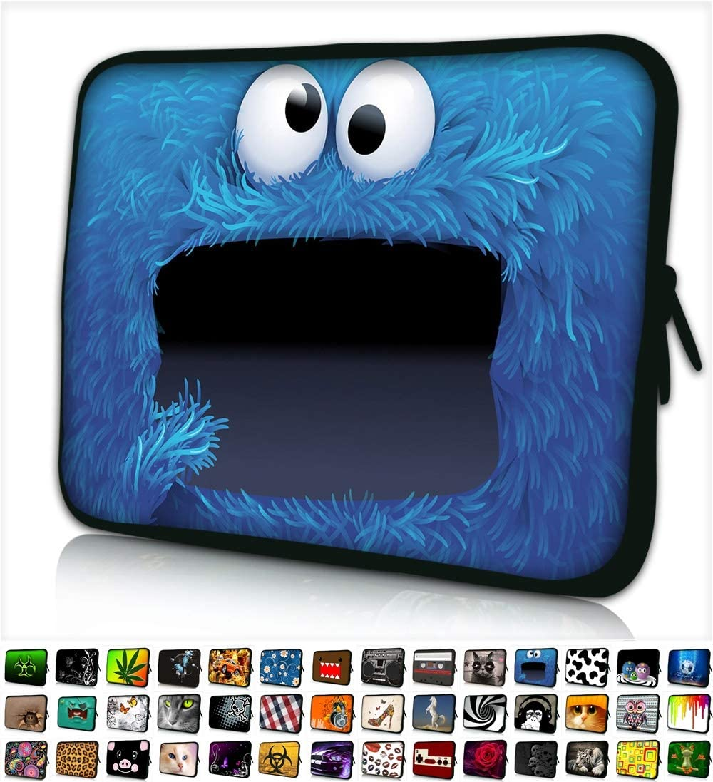 "Funky Planet 10"" inch Laptop Sleeve Case Bag Compatible with Apple MacBook air pro Dell Lenovo Samsung Asus Computer Tablet or Ipad"