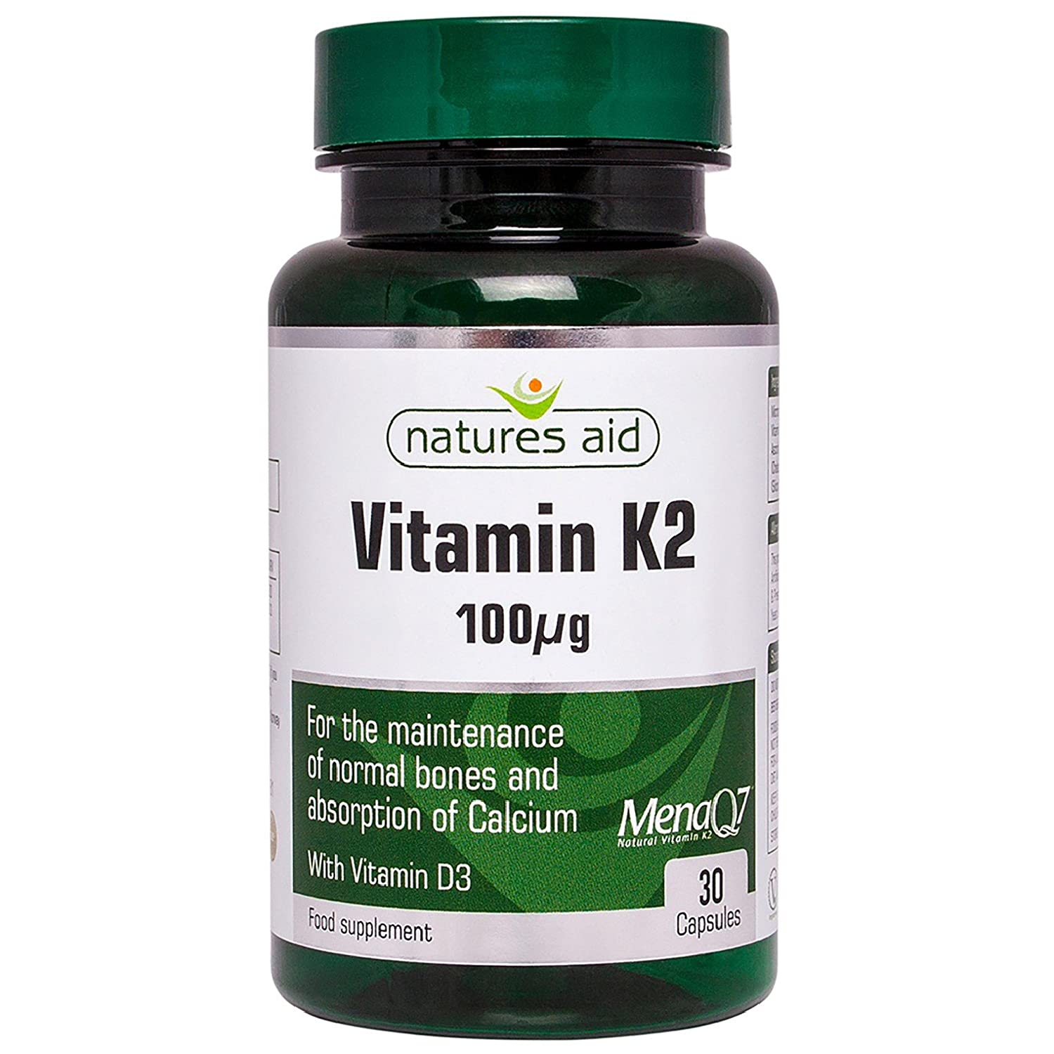 Vitamin K2 100ug (with Vitamin D3)30Vcaps: Amazon.es: Salud y cuidado personal
