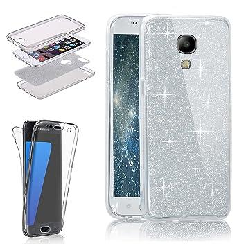 Galaxy S4 purpurina móvil, Bling Carcasa de silicona para ...