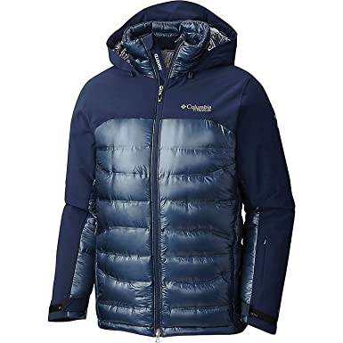 Columbia Mens Heatzone 1000 TurboDown Mens Hooded Jacket 1619811-464 at  Amazon Men s Clothing store  f9b69022d3