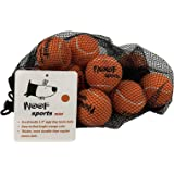 "Woof Sports Small/Mini 1.9"" Durable Dog Tennis Balls - 25% Thicker Than Regular Tennis Balls. 12 Orange Ecofriendly Balls & Mesh Carrying Bag. Perfect for Smaller Dogs"