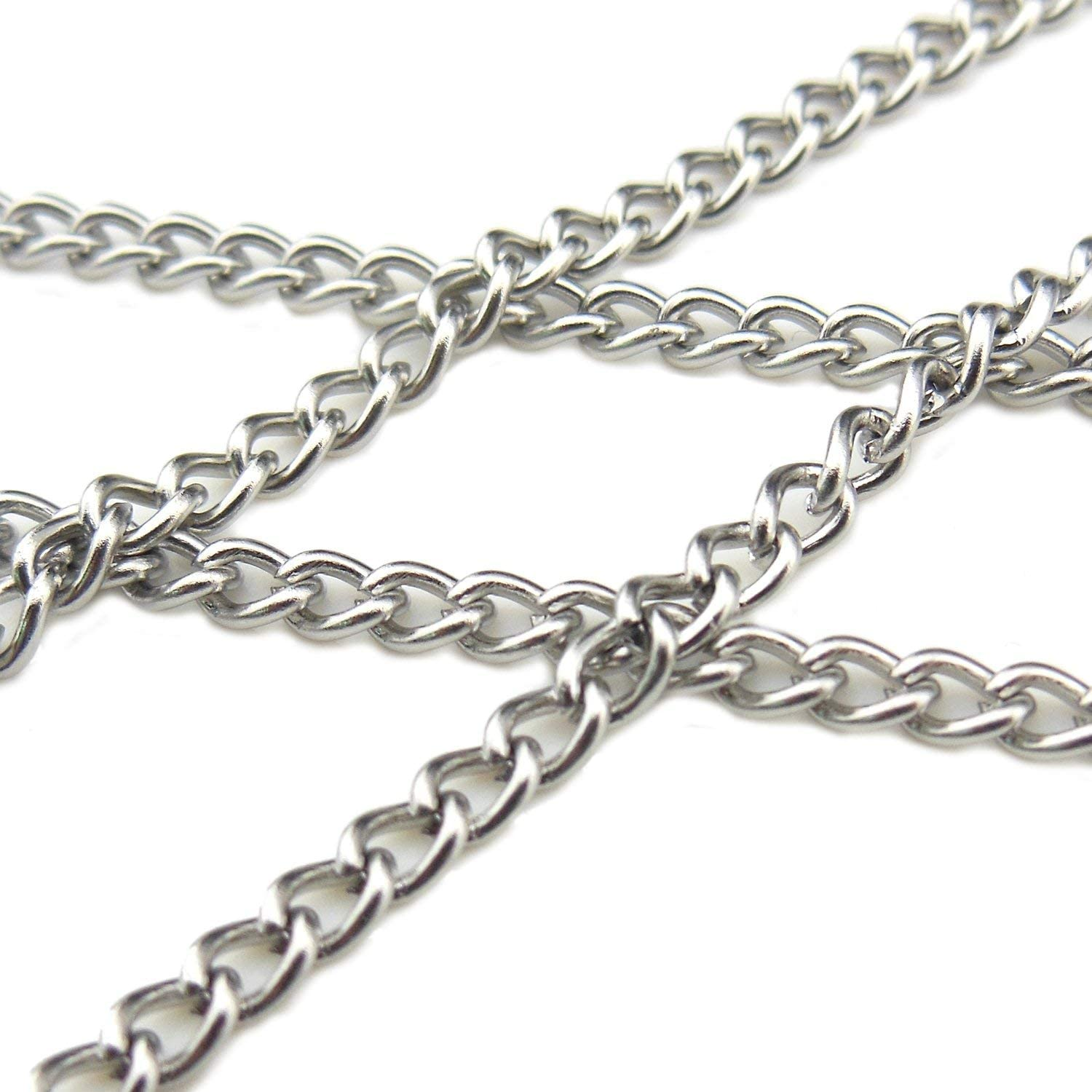 SC-1006-C 16.4ft 6.5mm Width Stainless Steel Chains Findings Fit for Jewelry Making /&DIY