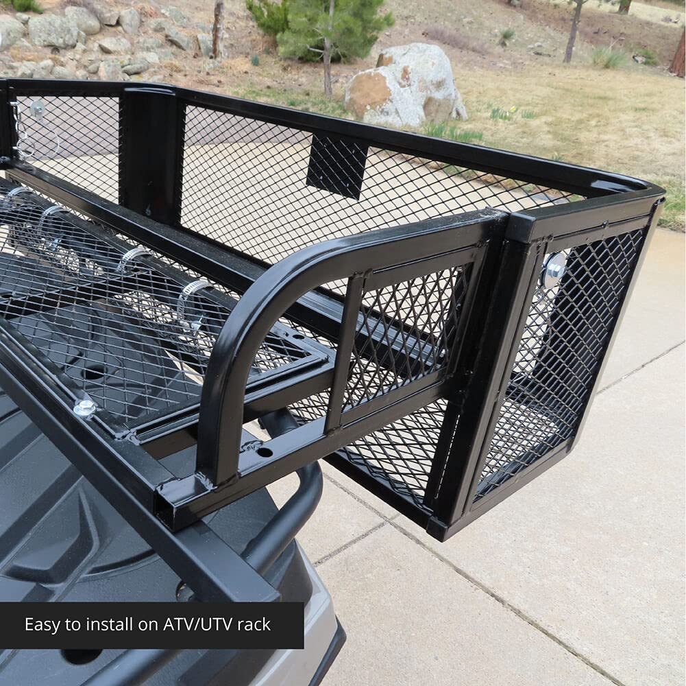 "Titan Ramps Rear ATV Drop Basket 41"" Wide 42 lb. Steel Mesh Hunting Fishing"