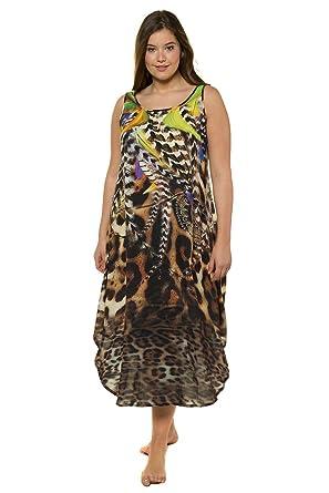 acb91477773 Ulla Popken Women s Plus Size Mixed Animal Print Flounce Dress Multi 36 38  714687 90