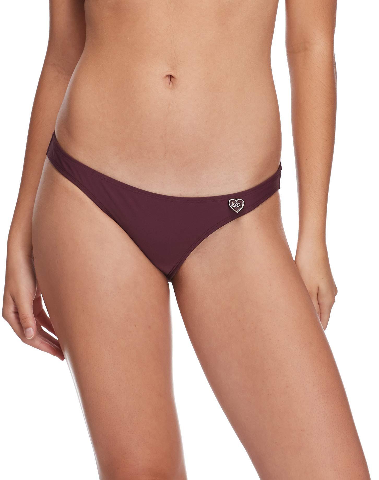 Body Glove Women's Smoothies Basic Solid Fuller Coverage Bikini Bottom Swimsuit, Porto, X-Small