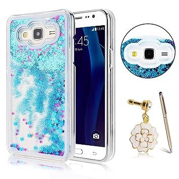 Anfire Funda para Samsung Galaxy J5 2016 Carcasa Claro Transparente Case Liquido Arena Movediza Estrella Hard PC Caso 3D Creative Cover Bumper ...