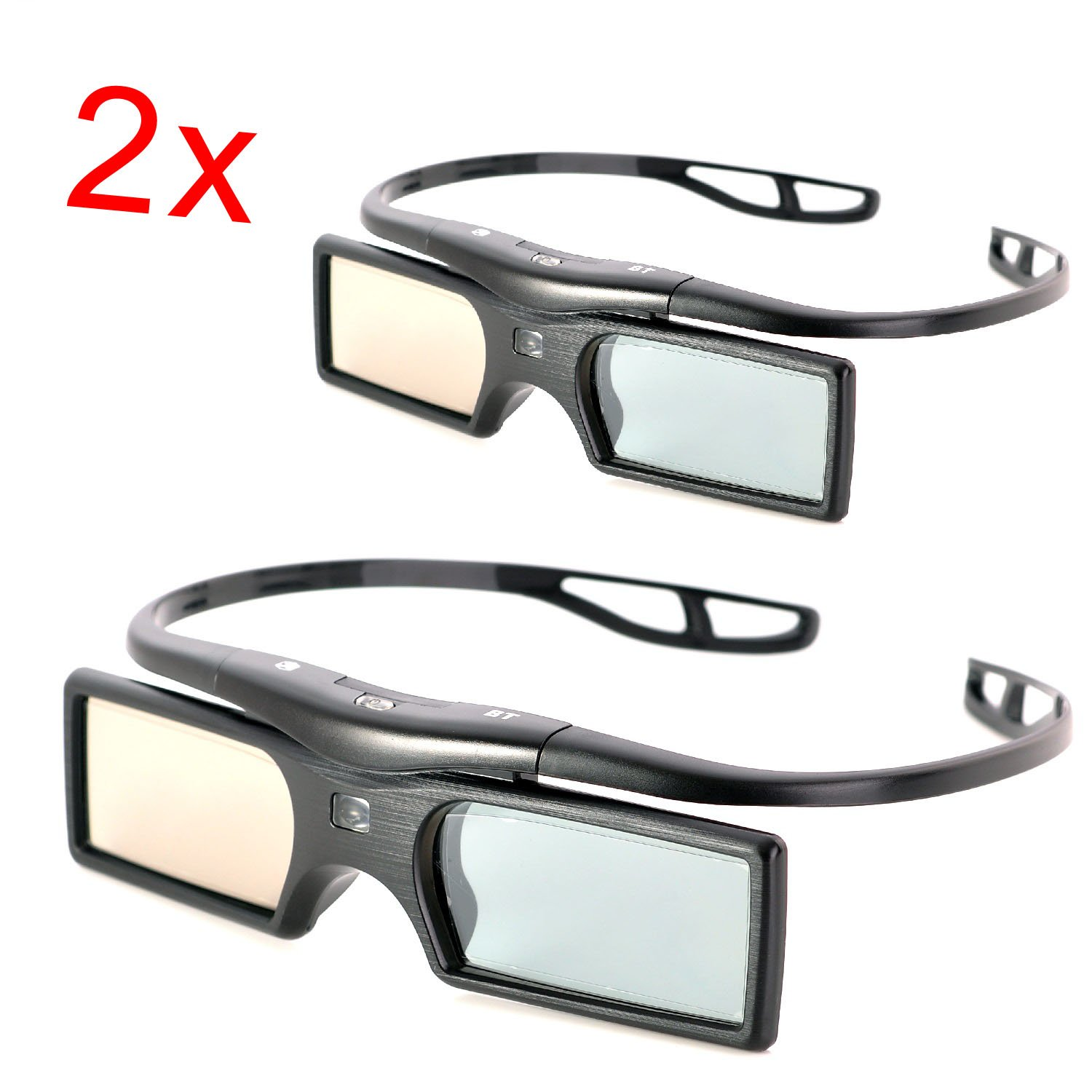 KR-NET 2x Replacement Active Shutter 3D Glasses of TDG-BT400A / TDG-500A for Sony 3D TV (2013 or later models) by KR-NET