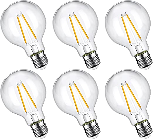 Maxlite G25 LED Globe Bulbs 40W Equivalent Vanity Mirror 2700K Dimmable 6-Pack