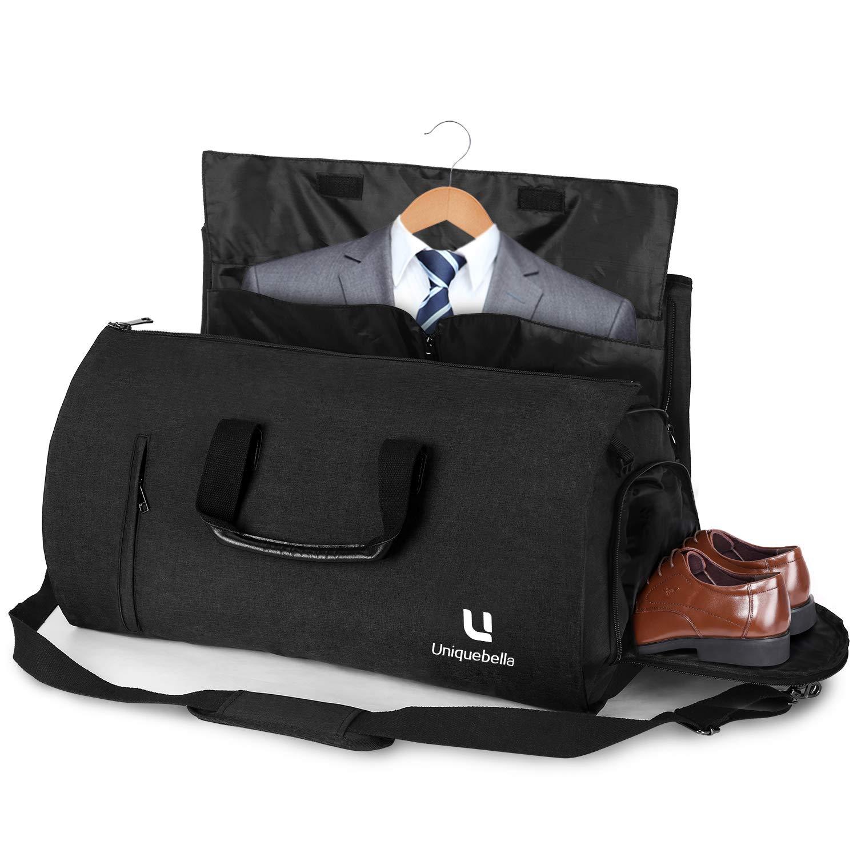 Carry-on Garment Bag Suit Travel Bag Duffel Bag Weekend Bag Flight Bag Gym Bag - Black
