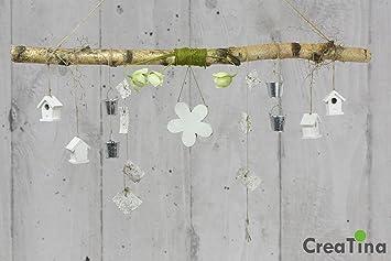 Deko Ast Zum Aufhängen deko ast aus birkenholz creatina mit holzblume circa 118 cm lang