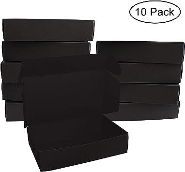 Negro Regalo Caja (10 Pack) - Cajas de regalo (19 x 11 x 4,5 cm ...