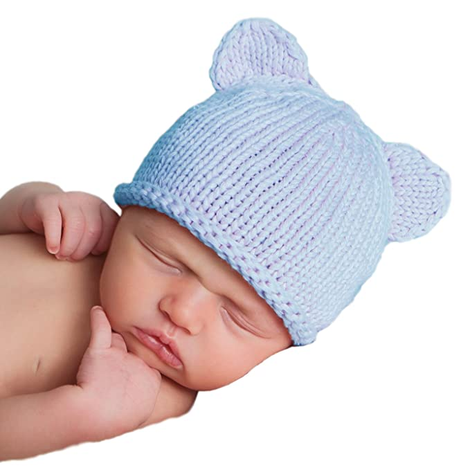 7a9d786fd Huggalugs Baby Bear Newborn Boy or Girl Hospital Hat in 3 Color Choices