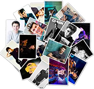 Trendy Non-Duplicate Vinyl Singer Stickers for Shawn Mendes,Stickers for Kids Boys Girls Adults Teens, 50 Pcs Popular Waterproof Decals Stickers Pack for Laptop Waterbottle MacBook Flasks Phone Bike.